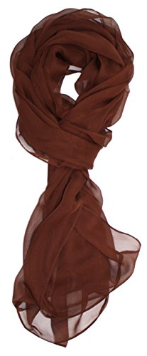 Ted and Jack - Solid Silk Lightweight Accent Scarf (Chocolate Brown)