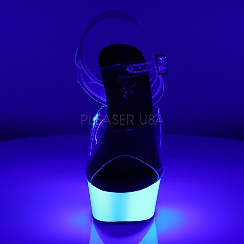 PleaserUSA Womens Platform Sandals Delight-608UV for Tabledance and Gogo neon white ceqeFZ