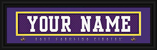 Laminated Visuals East Carolina Pirates - Personalized Jersey Nameplate - Framed Poster (Dowdy Ficklen Stadium)