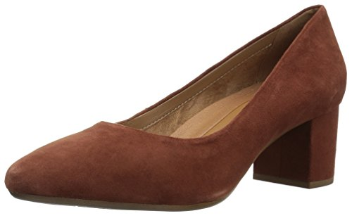 Aerosoles Women's Silver Star Pump, mid Brown Suede, 9 M - Suede Brown Womens Pumps