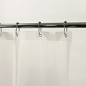 Amazoncom Extra Wide Vinyl Shower Curtain for a Clawfoot Tub