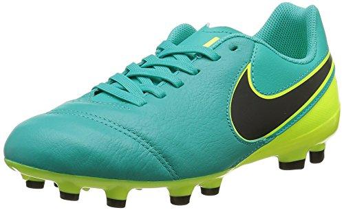 Nike Kids JR Tiempo Legend VI FG Soccer (Green/Yellow) (5.5)