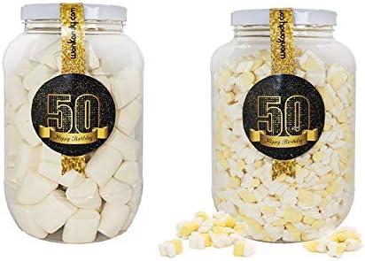 Wonkandy Happy Birthday, Chuches para cumpleaños - Decoración cumpleaños 50, Surtido de dulces para Candy Bar color negro: Amazon.es: Alimentación y bebidas