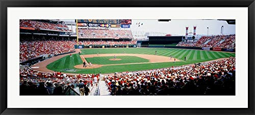 Great American Ballpark, Cincinnati, OH by Panoramic Images Framed Art Print Wall Picture, Black Frame, 45 x 21 inches