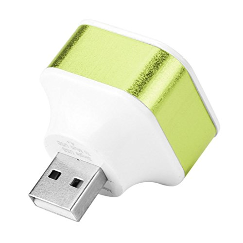 Livoty New 3 Port USB 2.0 Rotate HUB Splitter Adapter For PC Desktop Notebook Expansion (Green) by Livoty (Image #3)