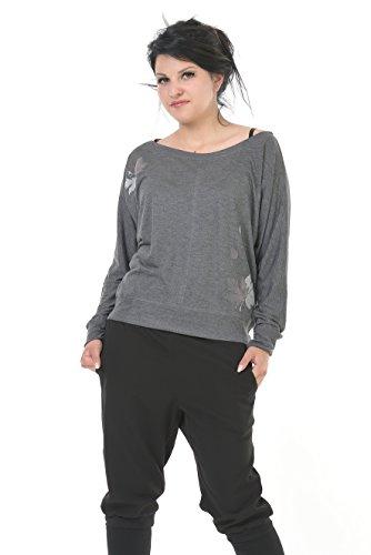 3 de Collar de Su de larga cuello barco Camisa larga de manga manga qdpYSxnwrq