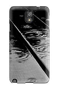 Galaxy Note 3 Case Slim [ultra Fit] Raindrops On Wood Protective Case Cover
