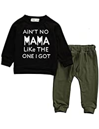 47f618815437 Baby Kids Toddler Boy Printed Tops Pants Leggings Outfits Clothes Set 0-3 Y