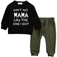 Baby Kids Toddler Boy Printed Tops Pants Leggings Outfits Clothes Set 0-3 Y