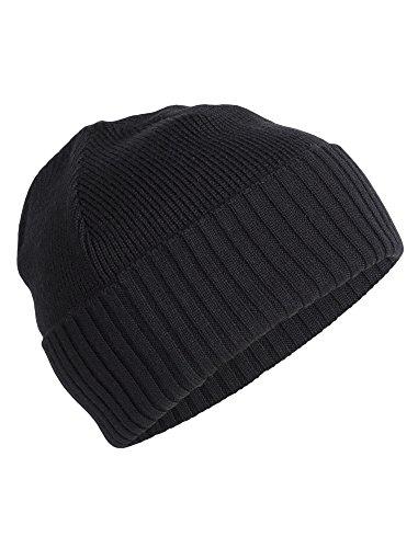 Icebreaker Merino Adult Unisex Scout Beanie, Black, One Size (Hat Wool Ibex)