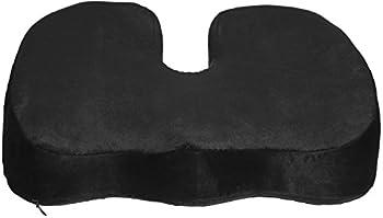 Coccyx Orthopedic Gel-Enhanced Comfort Foam Seat Cushion Ergonomic Wedge, Black