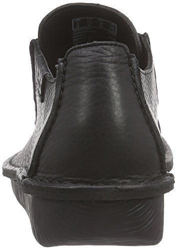 Femme Leather Clarks black Noir Derby Funny Dream q4St4T