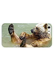 3d Full Wrap Case for iPhone 5/5s Animal Bear Having Fun In The River