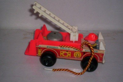 Vintage 1968 Little People Fisher Price Fire Truck Fire Engine ()