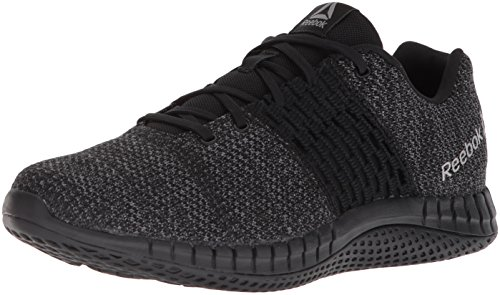 Reebok Men's Print Run Ultraknit Shoe, Black/Coal/Asteroid dust, 10.5 M US