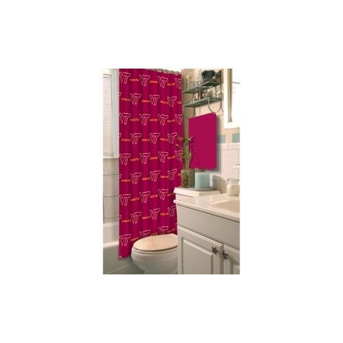 Virginia Shower Curtain (Officially Licensed NCAA Virginia Tech Hokies Shower Curtain)