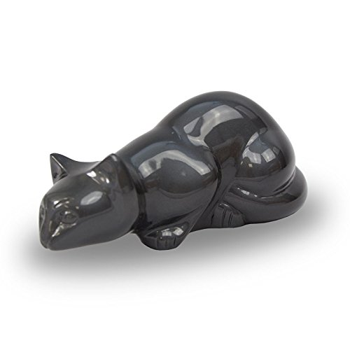 Bronze Pet Urn - Small - Holds Up To 25 Cubic Inches of Ashes - Slate Grey - Engraving Sold Separately by OneWorld Memorials