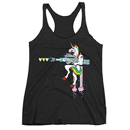 1c52f531833041 Amazon.com  Badass Unicorn Tank Top