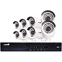 LOGAN AHD Series Video Security System DVR 16 Ch 720p / 8 Bullet 1MP Cameras (16 Ch + 8 Cameras White, 720p / 1 MP)