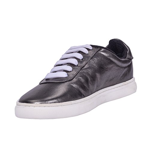 Dames Plat Loisirs Anthracite TD009 Abella Anthracite Chaussures TEDISH Mode Marche Confortable de Femme Lacets Cuir Outdoor Baskets wvnRIBzq