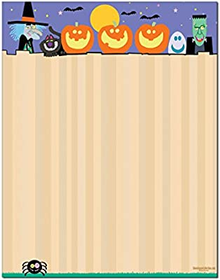 Halloween Stationery 8  60 Letterhead Sheets Halloween Printer Paper