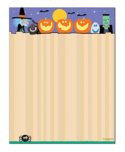Halloween Stationery - 8.5 x 11-60 Letterhead Sheets - Halloween Printer Paper -