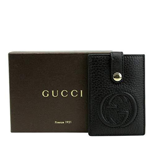 Gucci Women's Interlocking G SOHO Black Leather Credit Card Holder 338331 1000 (Black Leather Soho)