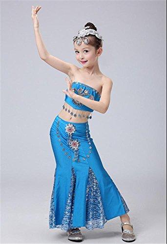 de blue de Costume pour enfants danse costumes Girl spectacles scène 6fczdBqWd