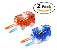 HapiSimi Track Train (2-Pack) and Track Car (6 Pack)