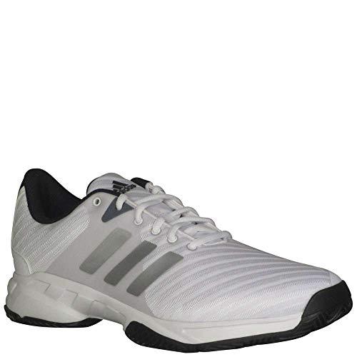 Adidas Shoes Tennis Barricade (adidas Men's Barricade Court 3 Wide Tennis Shoe, White/Matte Silver/Scarlet, 10 M US)