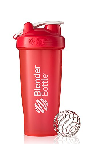 BlenderBottle Classic Loop Top Shaker Bottle, Red/Red, 28-Ounce Loop Top