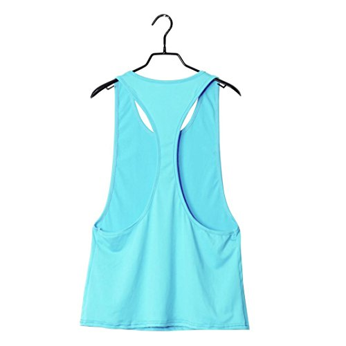 sans Nu Gilet Chemisiers Dos Sexy Bleu Col Manches Femme Solike Shirts lgant Tops O clair Gym Femme Blouses T Tank Tops z6nxzYXvS