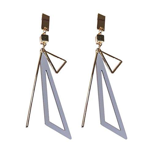 Womens Triangular Ring (Bobury Geometric Shaped Women Girls Triangular Earrings Jewelry Drop Pendant Alloy Plating Dangle Ear Studs Loop)