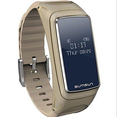 TR pulseras inteligentes relojes de moda deporte auriculares bluetooth salud b7 , white: Amazon.es: Electrónica