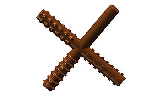 "CHEW STIXX CSM1005 Sensory University Original Chocolate Flavored Chew Stick, 0.63"" Height, 4"" Width, 4.75"" Length, Brown"