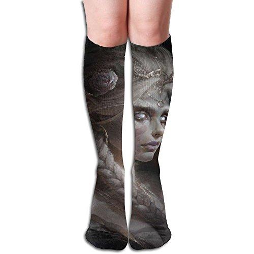 半円スポンサー本物奇妙な ストッキング サイハイソックス 3D プリント デザイン 女性男性 秋と春 フリーサイズ 美脚 かわいいデザイン 靴下 足元パイル ハイソックス メンズ レディース ブラック
