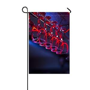 Soporte de iluminación para gafas de vino con bandera de jardín, 30,5 x 45,7 cm (sin mástil)