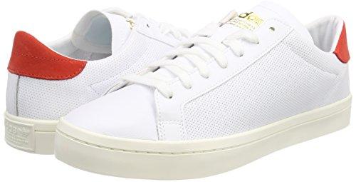 0 Adidas White Courtvantage chaussures Hommes Gymnastique Chaussures Pour De Blanc Rouge qWFvPB4