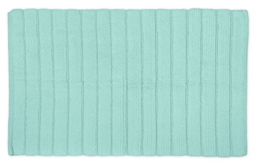 DII Cotton Ultra Absorbent Soft Luxury Spa Ribbed Bath Mat or Rug Place in Front of Shower, Vanity, Bath Tub, Sink, and Toilet 21x34