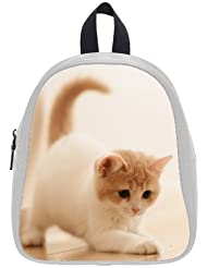 This school bag is much more suitable for kindergarten children/ Fashion Style Animals Kitten Cat Theme White...