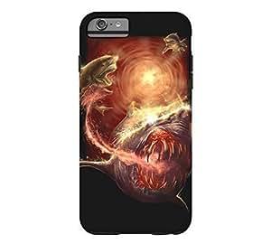 Kellie-Diy #5 Tiger Shark iPhone 6 Plus Black Tough cell phone case cover - Design By Humans YkIH3M9bndr