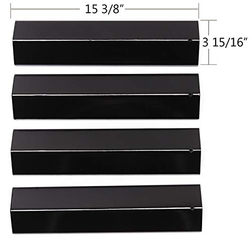 BBQ funland PH2311(4-pack) Porcelain Steel Heat Plate for Aussie, Brinkmann, Uniflame, Charmglow, Grill King, Lowes Model Grills