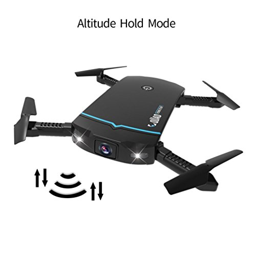Inverlee Foldable 720P HD Camera Drone Wifi FPV App Control RC Quadcopter Toy Gift (Black(With Romote Controller )) by Inverlee