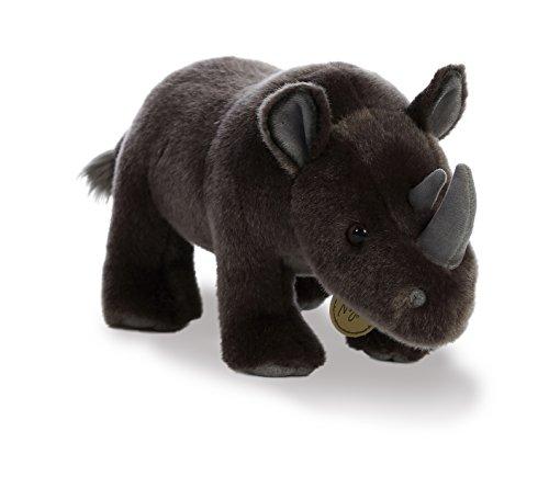 Aurora World Miyoni Plush Black Rhinoceros ()