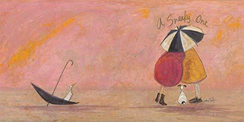Sam Toft Leinwanddruck, Baumwolle, Mehrfarbig, 50 x 100 cm