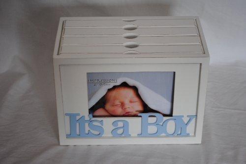 Juliana MDF Baby Photo Box 80 7 x 5 Prints It's a Boy CG150B