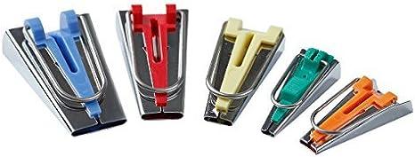 T.G.Y Sewing Bias Tape Maker 5 Sizes Bias Tape Maker Tool Kit Set 6MM//9MM//12MM//18MM//25MM Fabric Bias Tape Maker Tools Single//Double Bias Tape Makers for Quilt Binding DIY Quilting Tools Kit