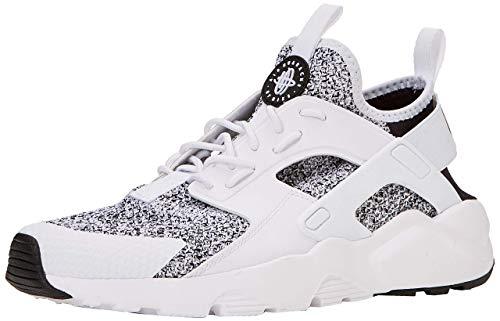 Nike Mens Air Huarache Black/Black/White Running Shoe (8)