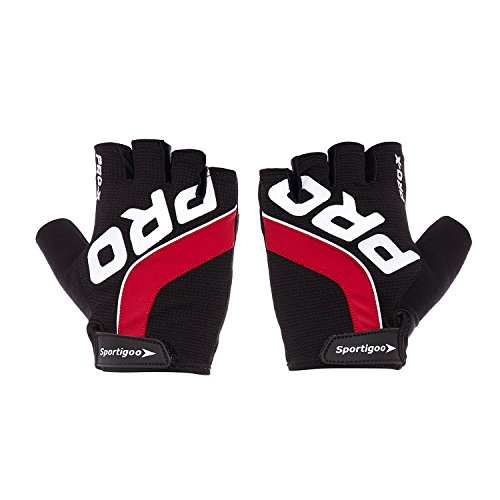Sportigoo PRO Cycling Gloves – Black/Red