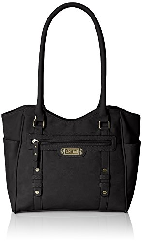 Rosetti Let's Face It Double Handle Tote Bag, Black, One Size Double Handle Tote Bag